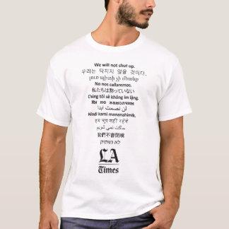 """""""No cerraremos"""" la camiseta blanca de los hombres"""