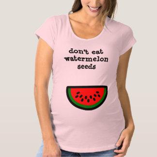 No coma las semillas de la sandía camiseta de premamá