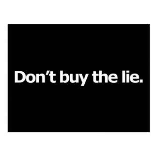 No compre la mentira postal