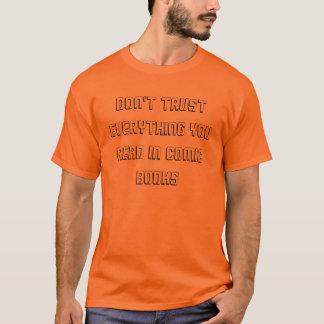 No confíe en en camiseta del diseño del texto de