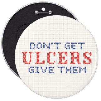 No consiga las úlceras chapa redonda de 15 cm