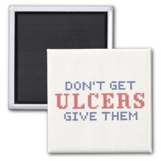No consiga las úlceras imán