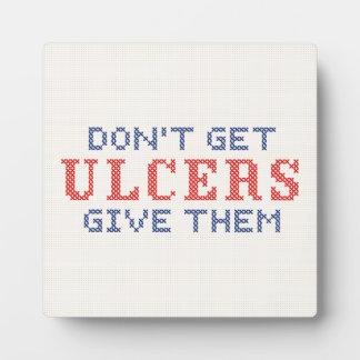 No consiga las úlceras placa expositora
