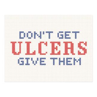 No consiga las úlceras postal