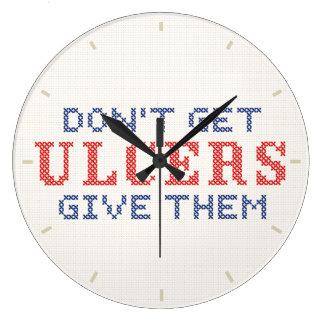 No consiga las úlceras reloj redondo grande