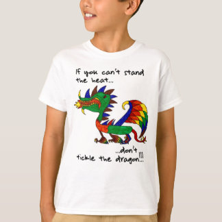 No cosquillee el dragón camiseta
