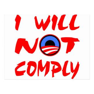 No cumpliré Obama Postal