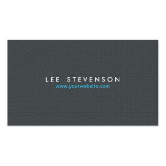 No. de lino gris sólido simple 2 de la mirada de tarjetas de visita