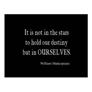 No destino pero nosotros mismos de las estrellas postal