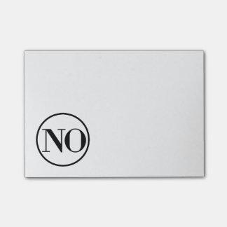 No diga ningún cuaderno de notas descarado