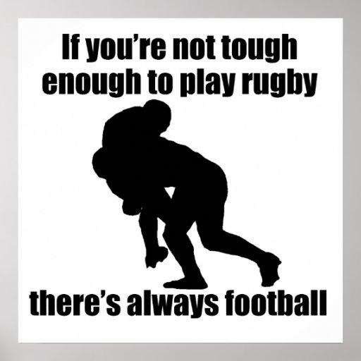 No duro bastante jugar a rugbi poster