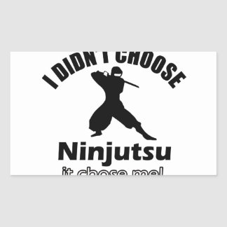 No eligió ninjutsu pegatina rectangular