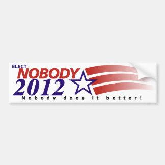 No elija a nadie 2012 etiqueta de parachoque