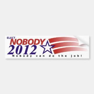No elija a nadie 2012 pegatina para coche