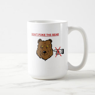 No empuje el oso taza de café