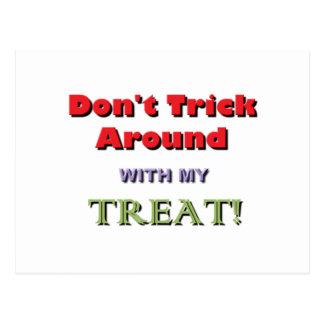 No engañe alrededor de la advertencia de Halloween Postal
