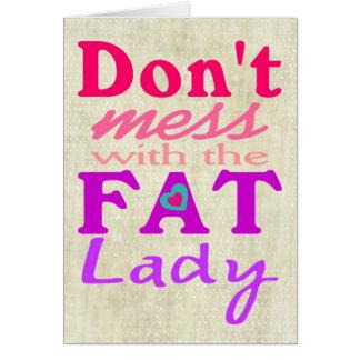 No ensucie con la tarjeta gorda de la maternidad d