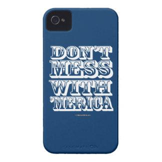 No ensucie con 'Merica - estilo occidental Case-Mate iPhone 4 Protectores
