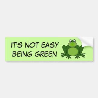 No es el ser fácil verde - pegatina para el