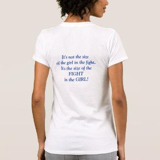 No es el tamaño del chica en la lucha - camiseta