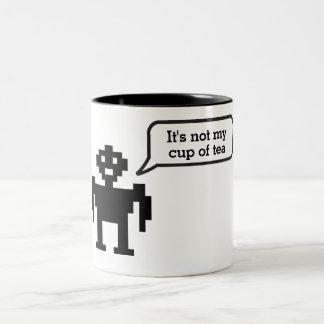 No es mi taza de taza del idioma del robot del té