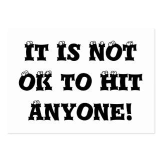 No es MUY BIEN golpear cualquier persona - matón a Tarjeta De Visita