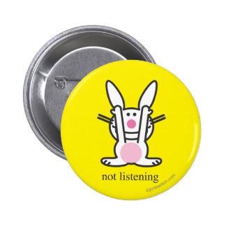 No escuchando chapa redonda de 5 cm