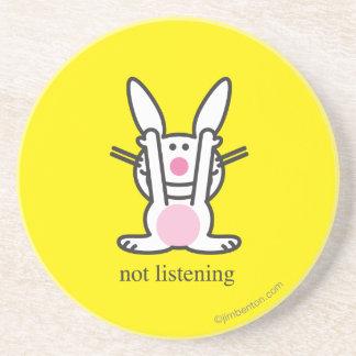 No escuchando posavaso para bebida