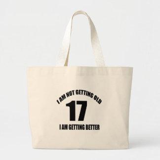 No estoy consiguiendo 17 viejos que estoy bolso de tela gigante