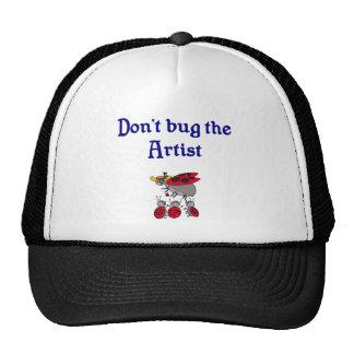 No fastidie el gorra del artista
