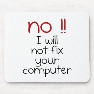 No fijaré su ordenador alfombrilla de ratón
