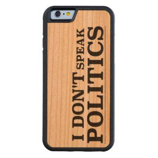 No hablo política funda de iPhone 6 bumper cerezo