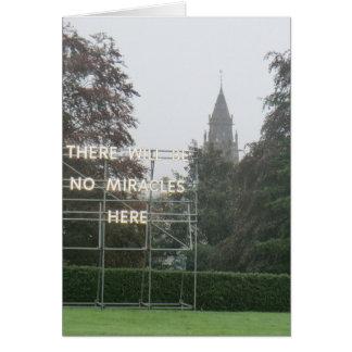 No habrá arte de Edimburgo de los milagros aquí - Tarjetas