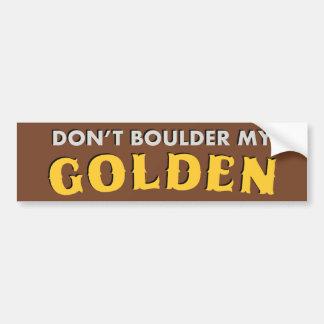 No hace Boulder mi pegatina para el parachoques de