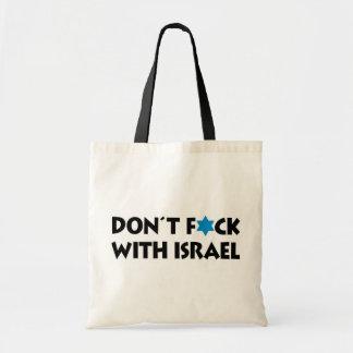 No hace F*ck con Israel - orgullo judío Bolsa Tela Barata