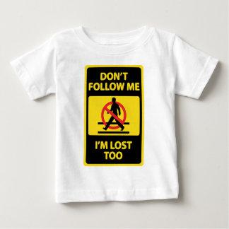 No hace - Seguir- Camiseta De Bebé