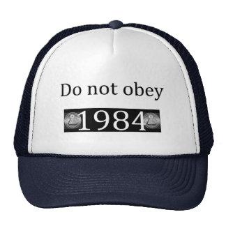 No hacen obey/1984 gorros bordados