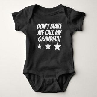 No haga que llama a mi abuela body para bebé