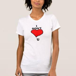 NO HAGO el corazón U Camisetas