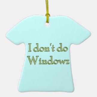 No hago el ornamento de la camiseta de Windowz Adorno Para Reyes