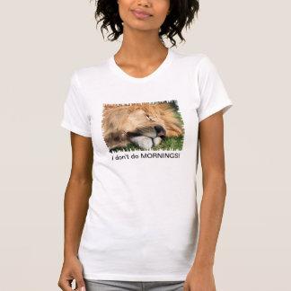 No hago la camiseta de las señoras del león el