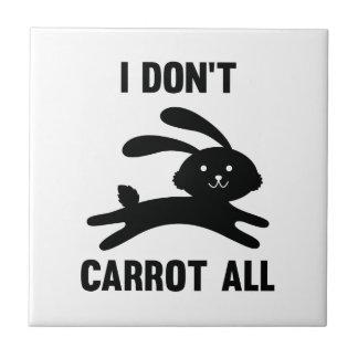 No hago zanahoria toda azulejo de cerámica