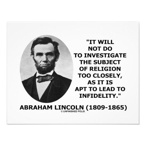 No hará para investigar la religión demasiado de c invitacion personal