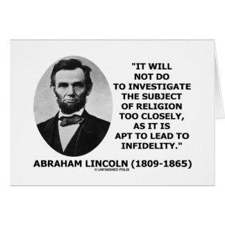 No hará para investigar la religión demasiado de c felicitacion