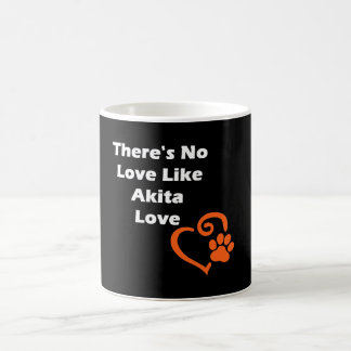 No hay amor como el amor de Akita Taza De Café