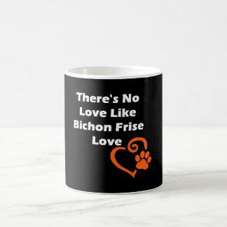 No hay amor como el amor de Bichon Frise Taza De Café