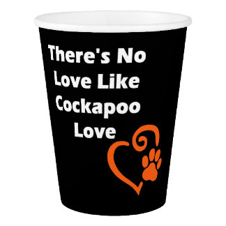No hay amor como el amor de Cockapoo Vaso De Papel