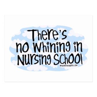 No hay gimoteo en escuela de enfermería tarjeta postal
