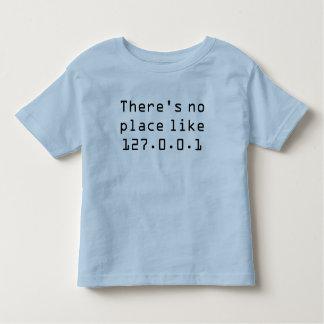 No hay lugar como 127.0.0.1 camiseta de bebé