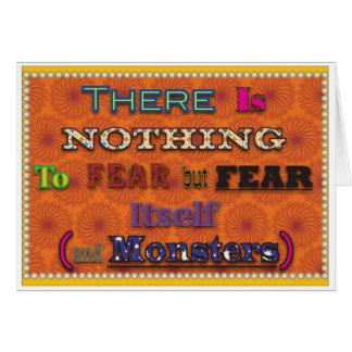 No hay nada temer tarjeta